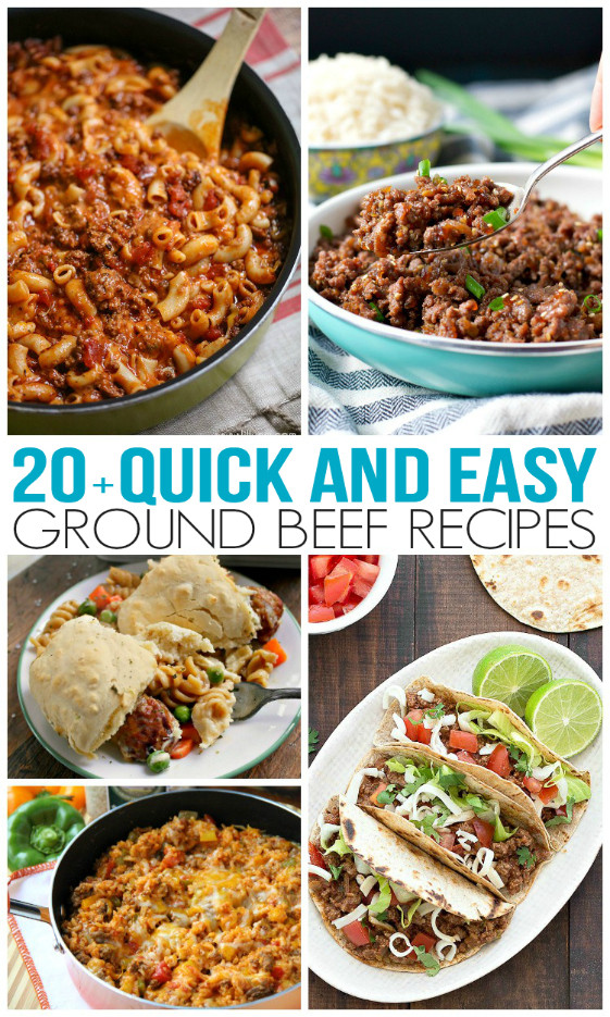 Dinner Ideas With Hamburger  Quick and Easy Ground Beef Recipes Family Fresh Meals