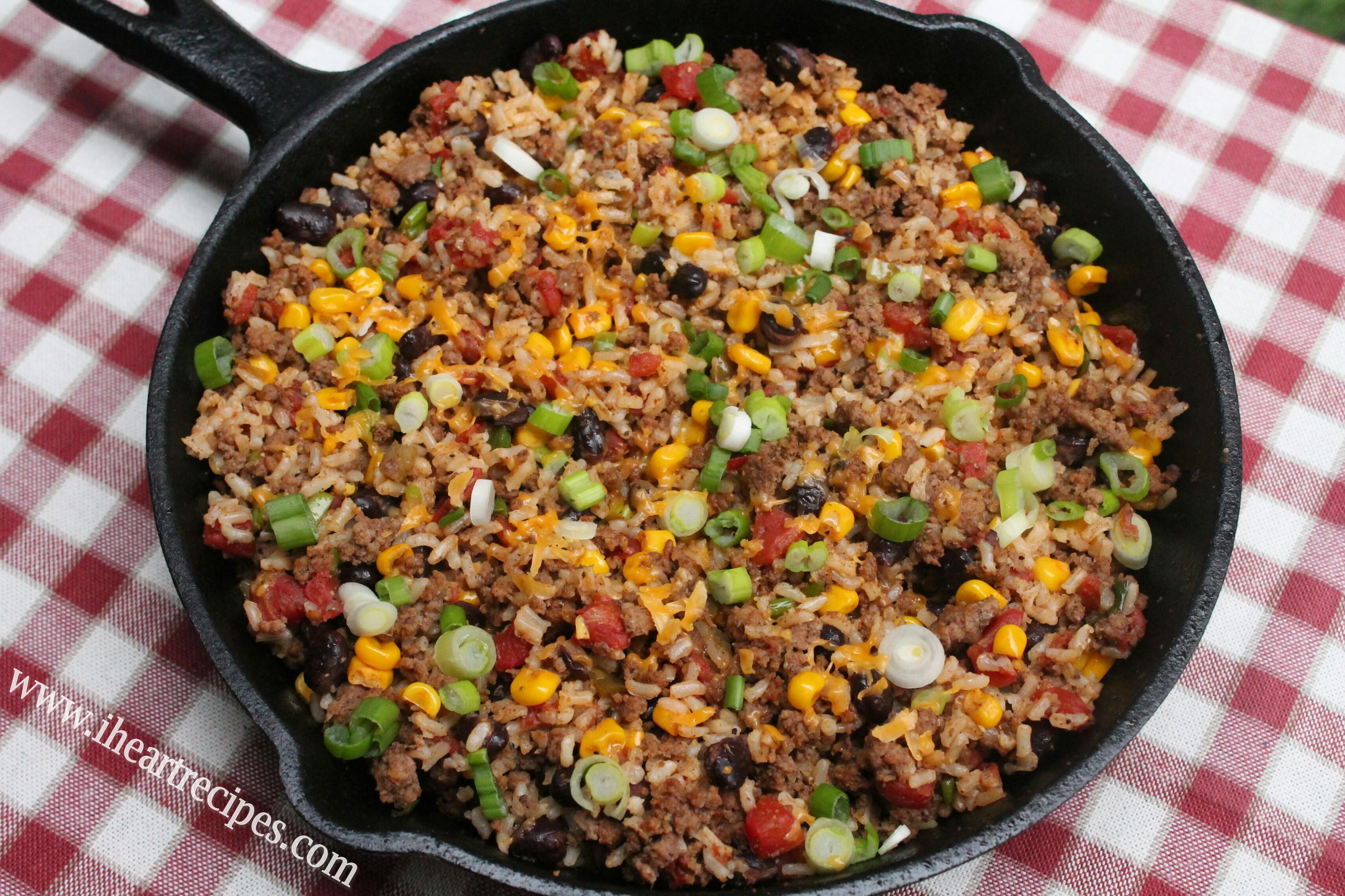 Dinner Ideas With Hamburger  Tex Mex Beef Skillet