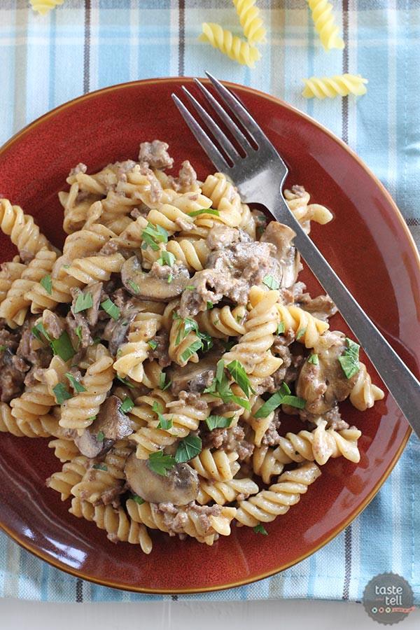 Dinner Ideas With Hamburger  e Pot Ground Beef Stroganoff Taste and Tell
