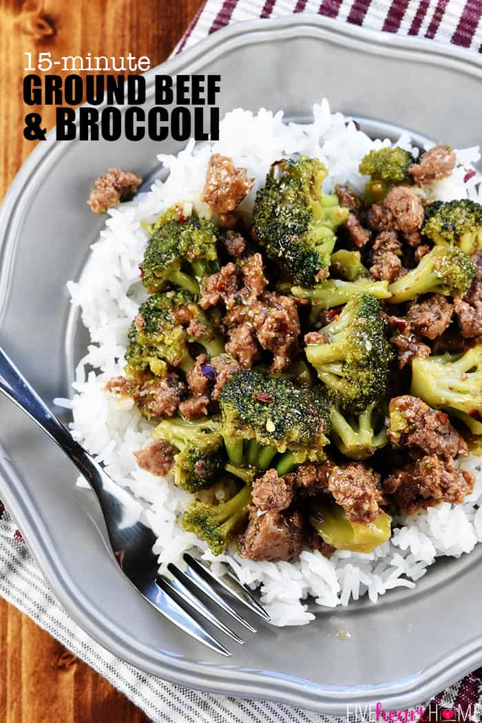 Dinner Ideas With Hamburger  Ground Beef and Broccoli