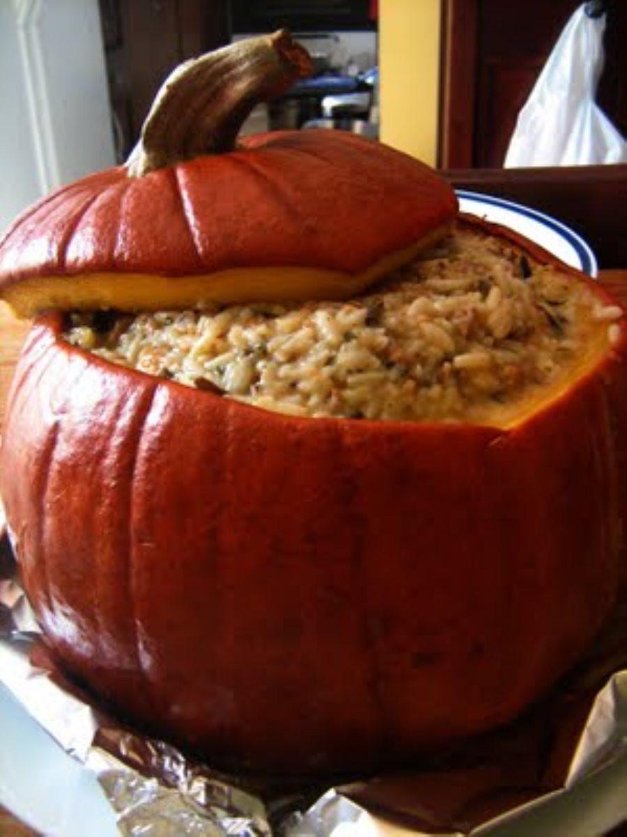Dinner In A Pumpkin  Dinner In A Pumpkin