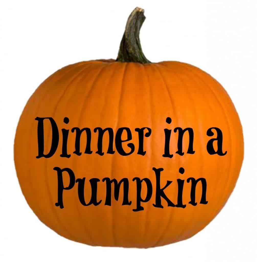 Dinner In A Pumpkin  Dinner in a Pumpkin Recipe Just 2 Sisters