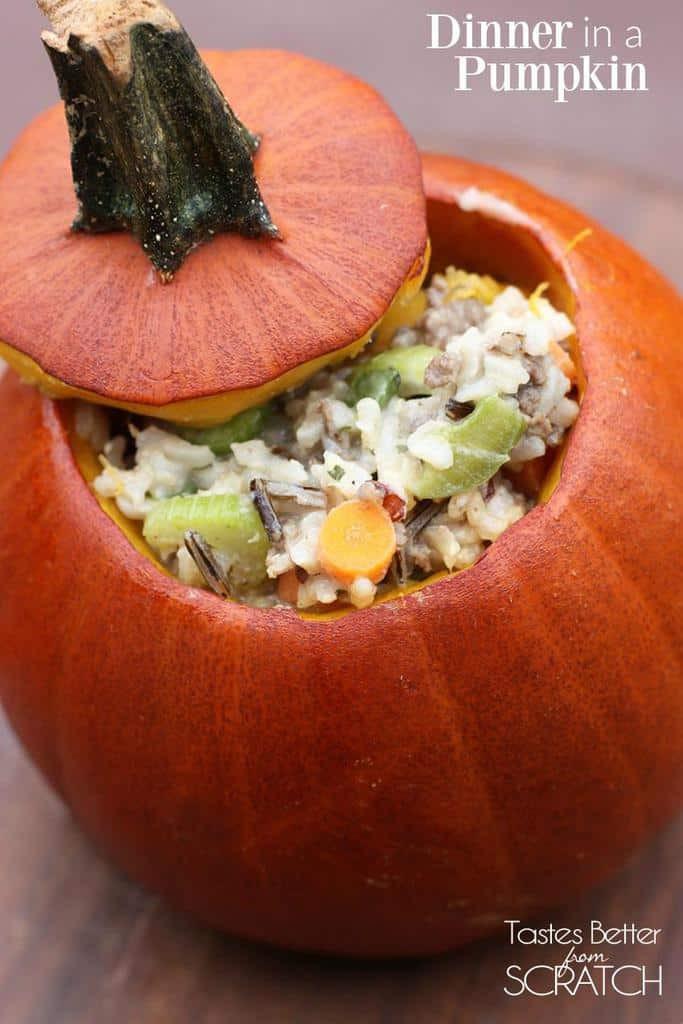 Dinner In A Pumpkin  Dinner in a Pumpkin Tastes Better From Scratch