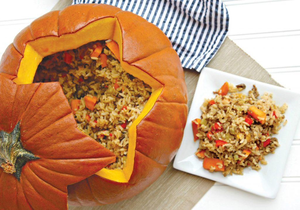 Dinner In A Pumpkin  This Dinner in a Pumpkin recipe is the perfect and most