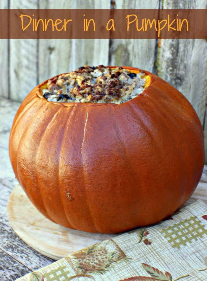 Dinner In A Pumpkin  Dinner in a Pumpkin Recipe