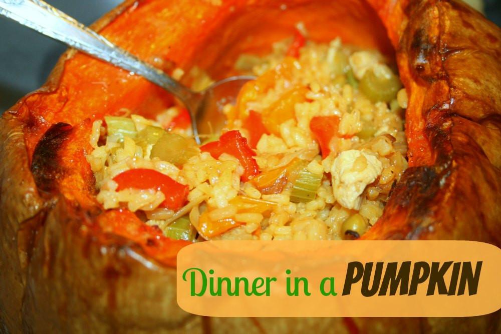 Dinner In A Pumpkin  SusieQTpies Cafe Easy Dinner in a Pumpkin Halloween