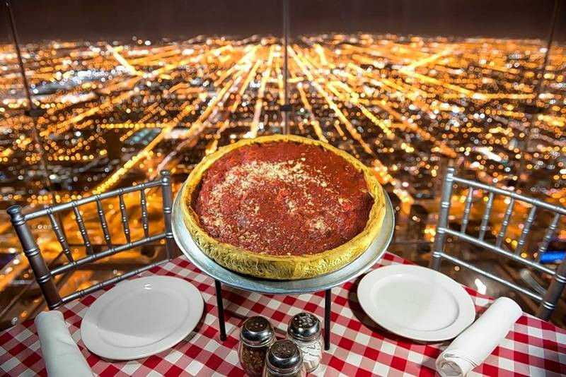 Dinner In Chicago  Midwest travel Giordano s pizza plus Skydeck Chicago
