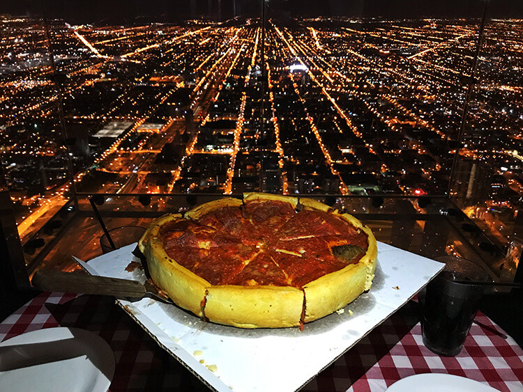 Dinner In Chicago  Pie in the Sky VIP Dinner at Skydeck Chicago Luxe