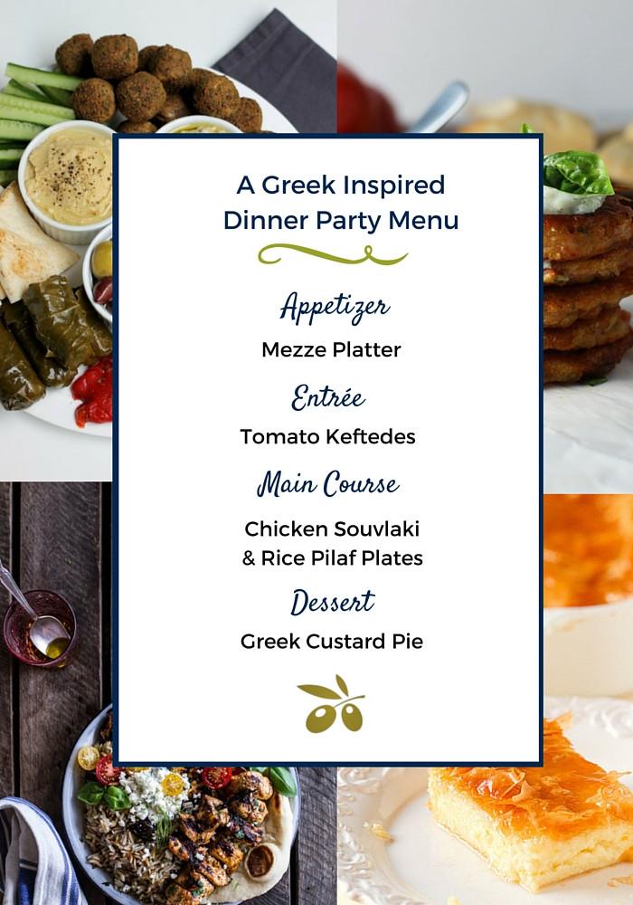 Dinner Party Menu Ideas  A Greek Dinner Party Menu