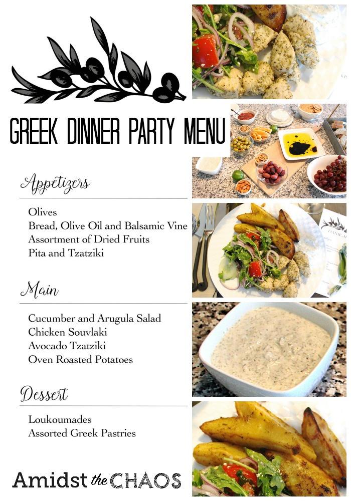 Dinner Party Menu Ideas  Greek Inspired Dinner Party Part 2