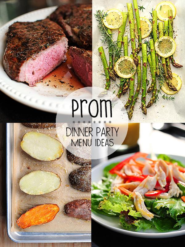 Dinner Party Menu Ideas  Prom Night Menu Ideas