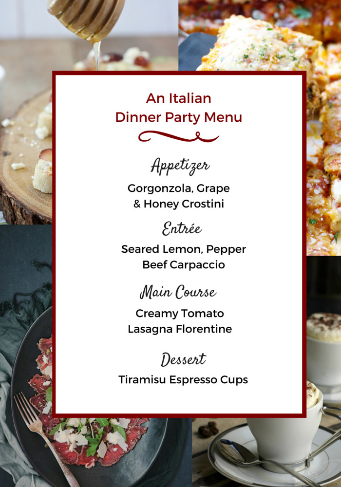 Dinner Party Menu Ideas  Easy Feasts An Italian Dinner Party Menu Pretty Mayhem