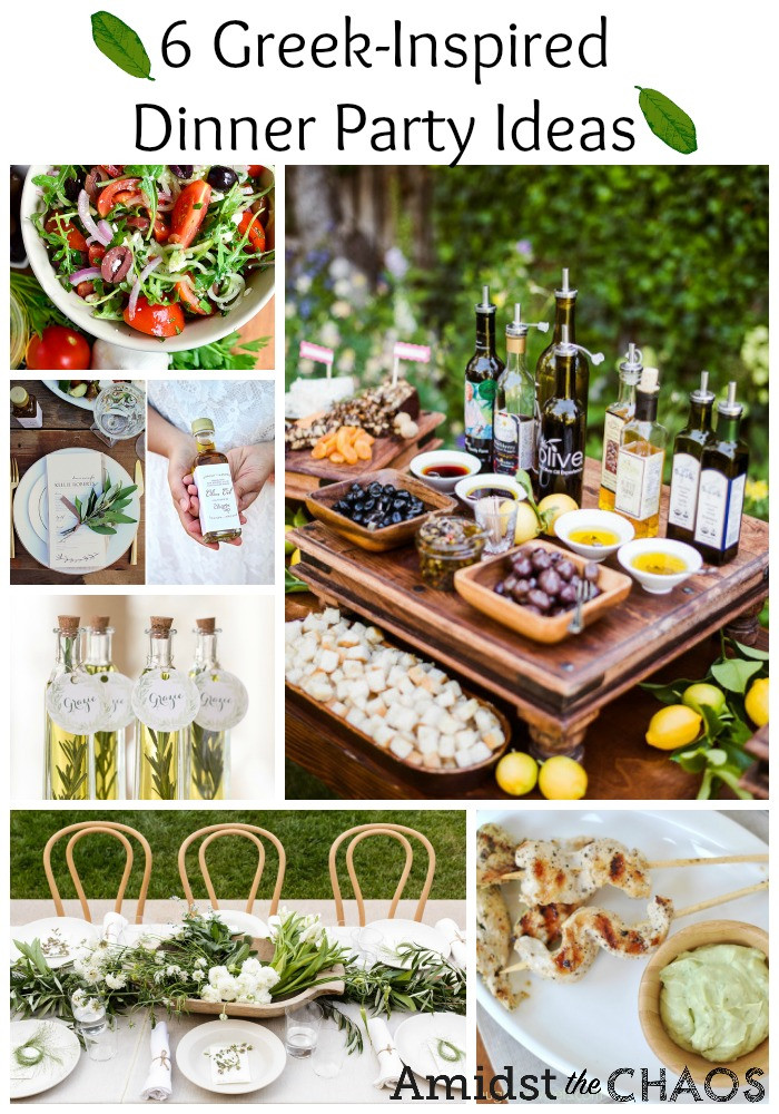 Dinner Party Menu Ideas  Greek Inspired Dinner Party Ideas Amidst the Chaos