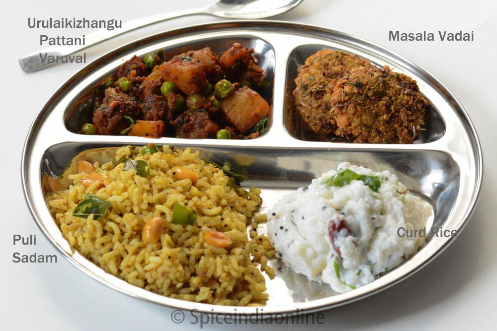 Dinner Recipes Indian  Lunch Dinner Menu 6 – South Indian Ve arian Lunch Menu