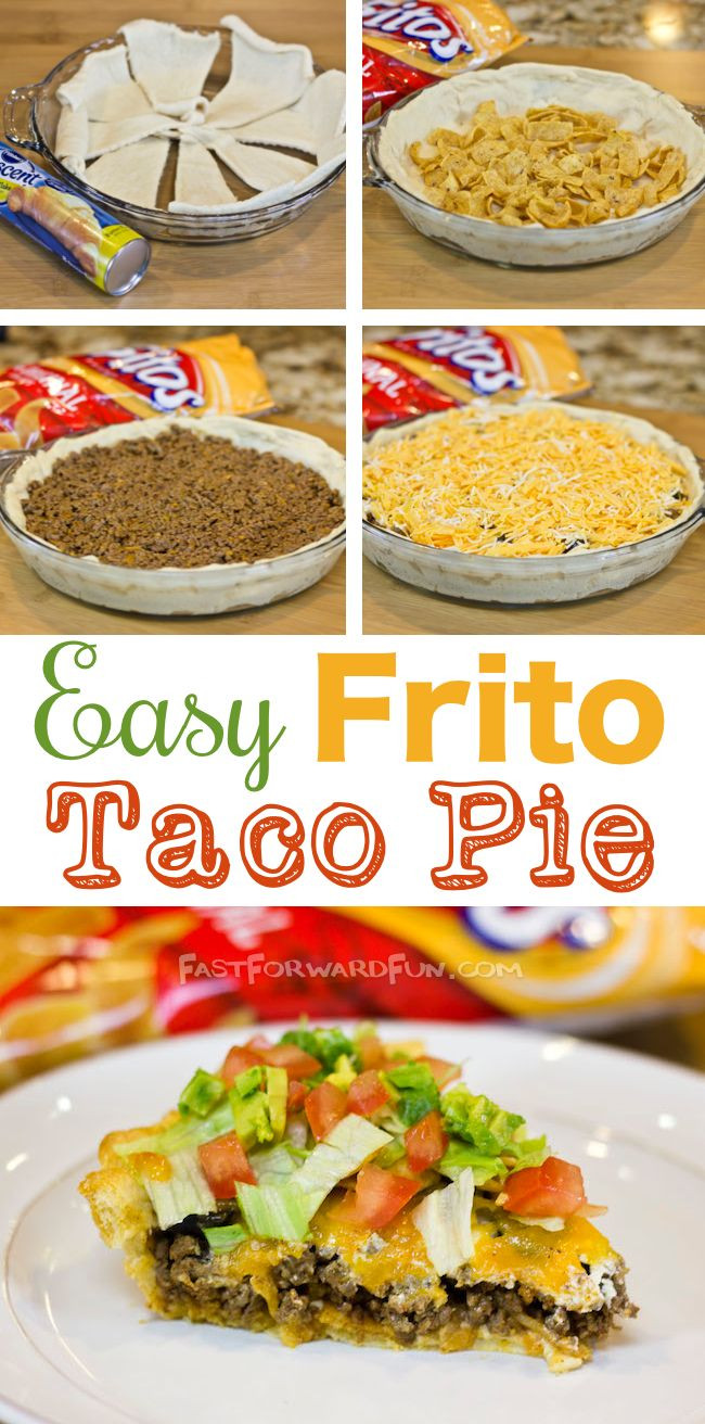 Dinner Recipes Using Pie Crust  Frito Taco Pie With A Crescent Dough Crust