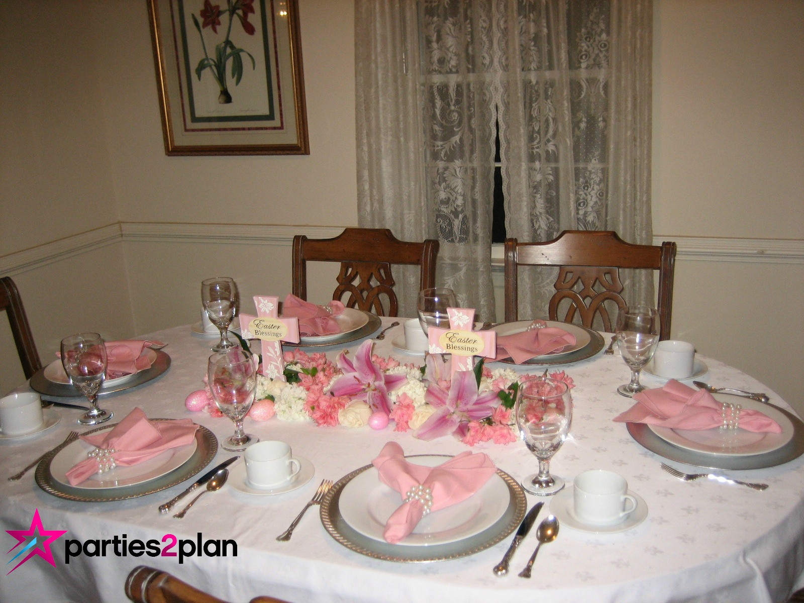 Dinner Table Deco  Tablescape Easter Dinner Table Decorations