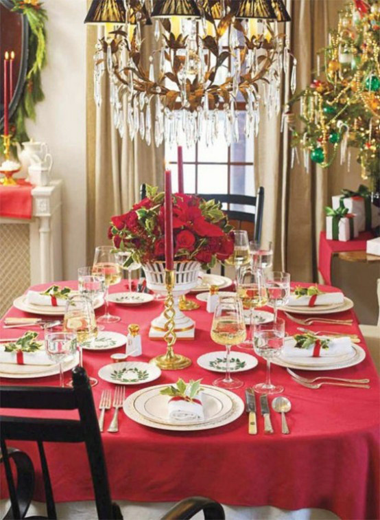 Dinner Table Deco  20 MOST AMAZING CHRISTMAS TABLE DECORATIONS