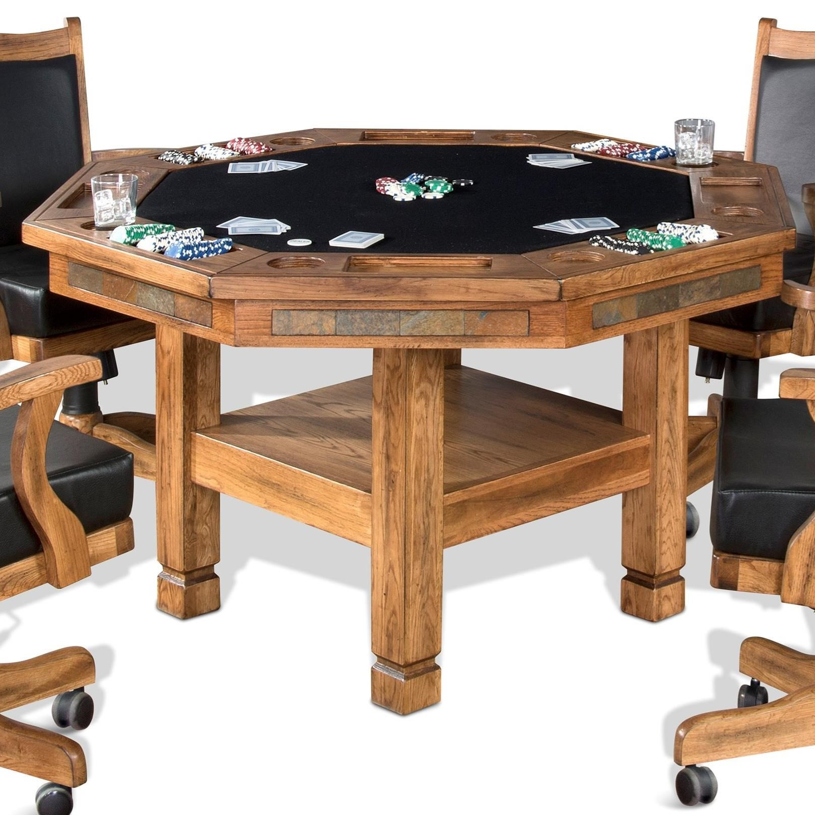 Dinner Table Game  Sunny Designs Sedona Reversible Top Game & Dining Table