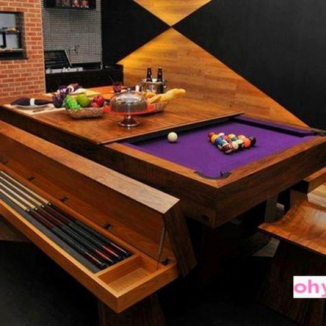 Dinner Table Game  17 Best images about Funky Pool Tables on Pinterest
