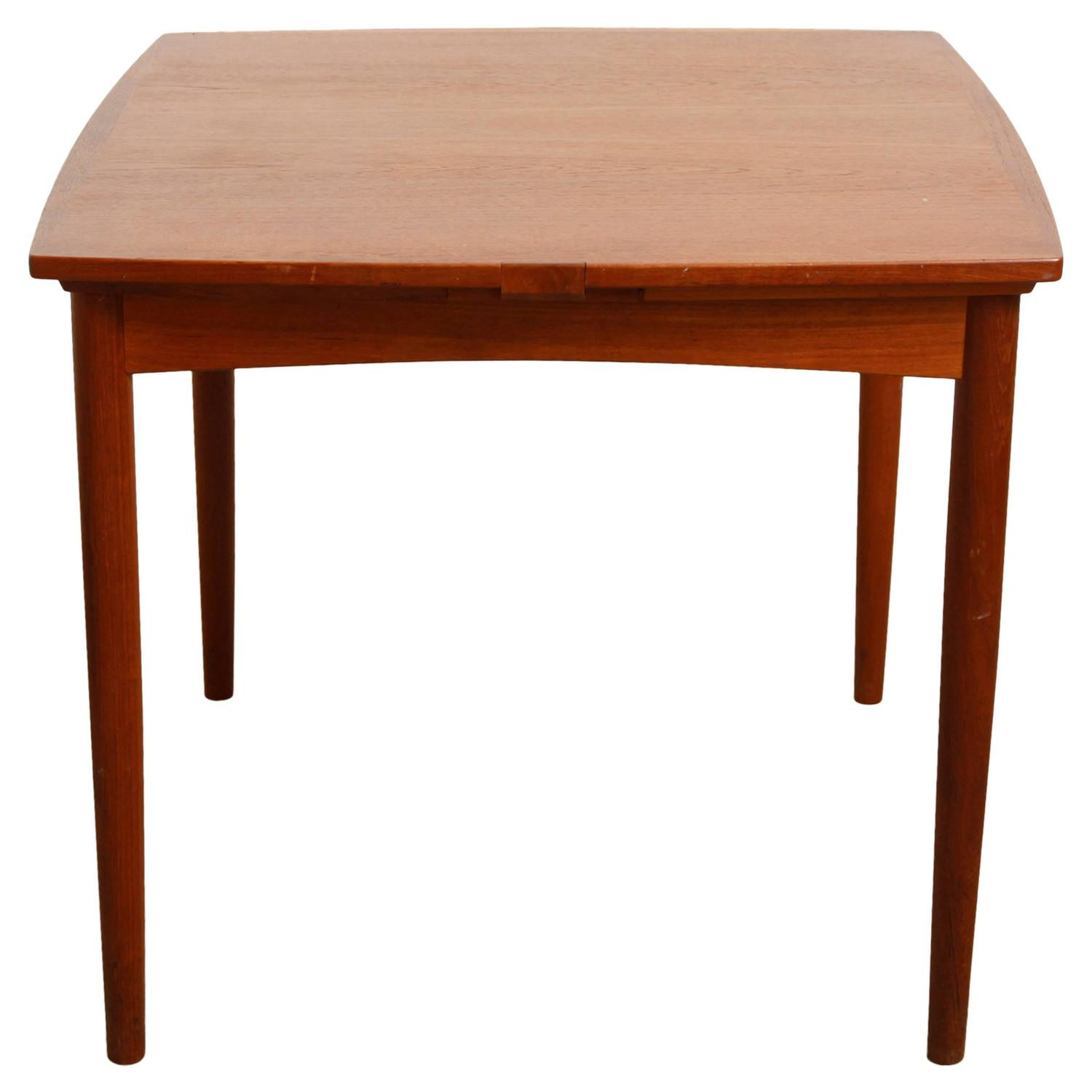 Dinner Table Game  Poul Hundevad Convertible Teak Game or Dining Table at 1stdibs
