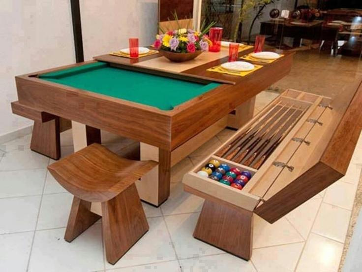 Dinner Table Game  Pool table dinner table DIY IDEAS Pinterest