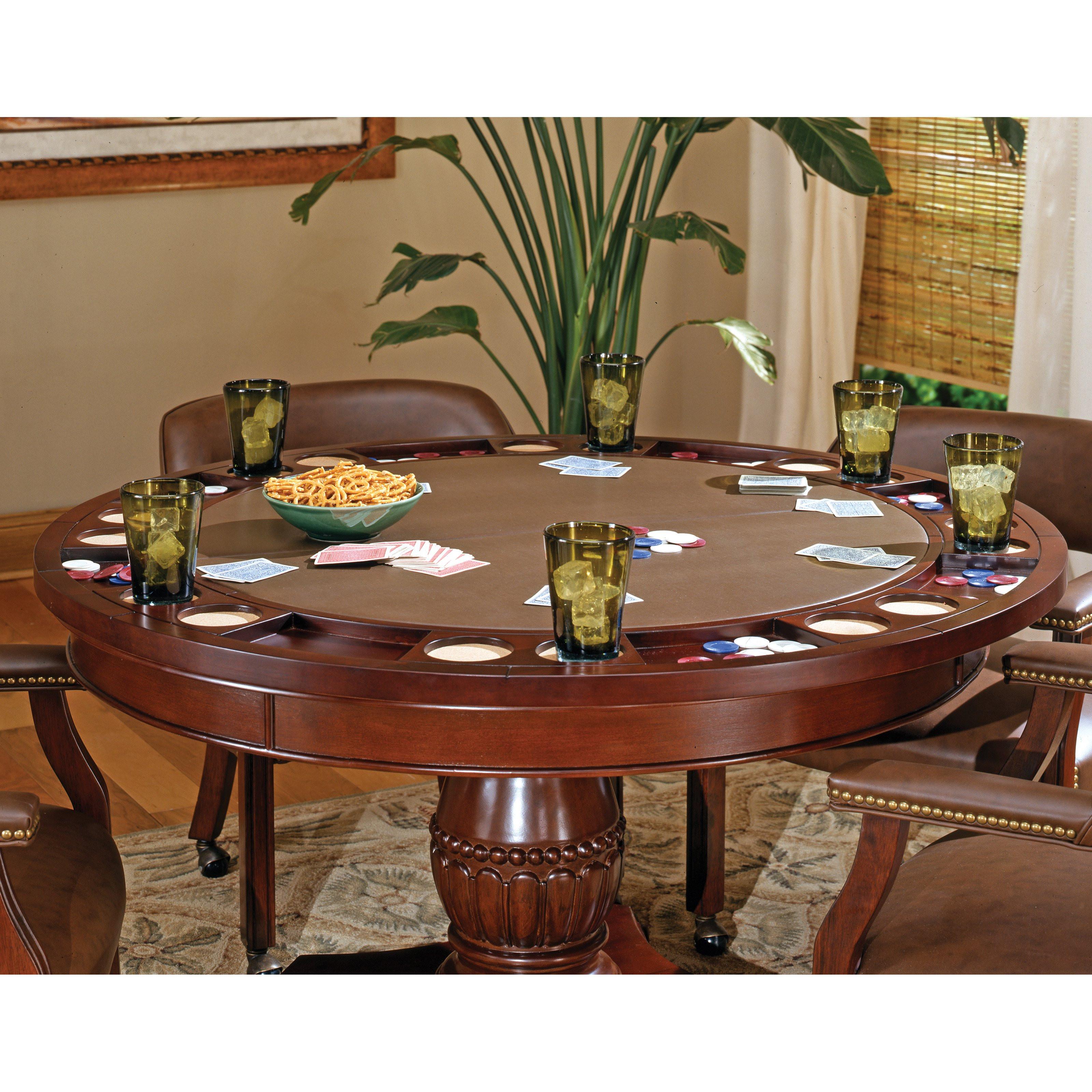 Dinner Table Game  Steve Silver Tournament Dining Game Table Cherry Poker