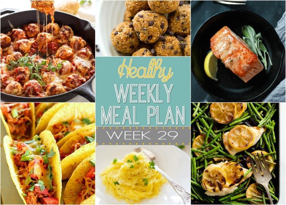 Dinner This Week  Healthy Weekly Meal Plan 29 Yummy Healthy Easy