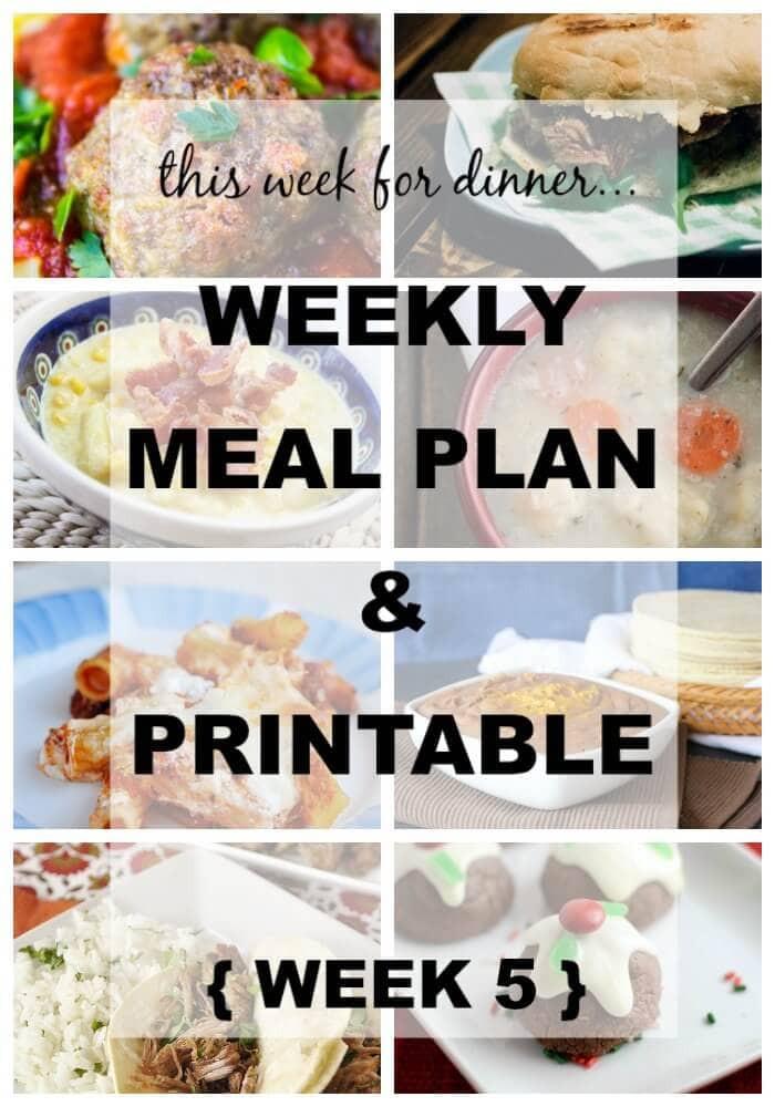 Dinner This Week  Weekly Menu Plan 5 I Heart Nap Time