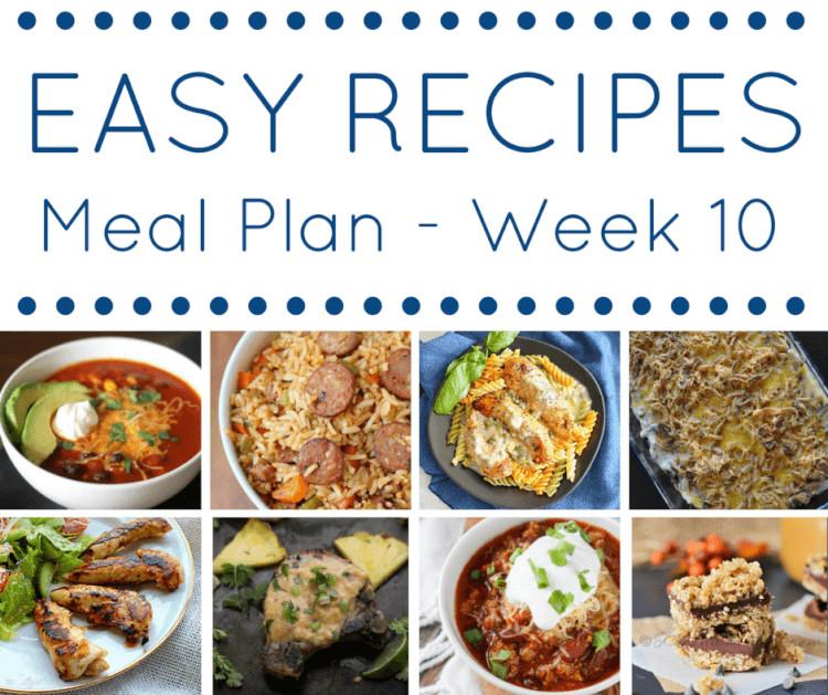 Dinner This Week  Easy Recipes Meal Plan Week 10 Sugar & Soul