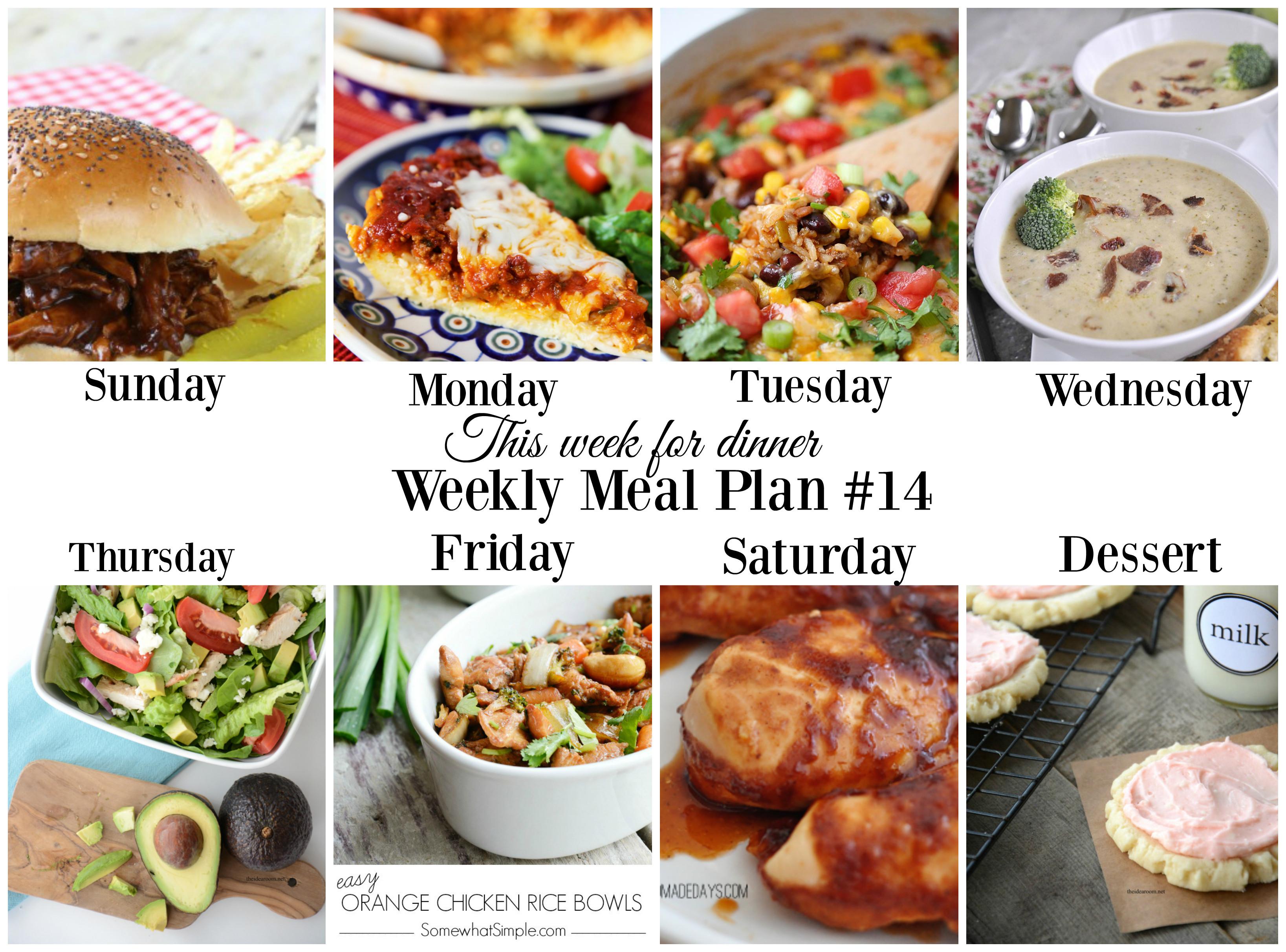 Dinner This Week  This week for dinnerMeal Plan 14 Your Homebased Mom