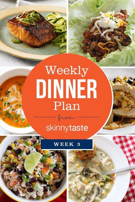Dinner This Week  17 Best images about Skinnytaste Meal Plan on Pinterest