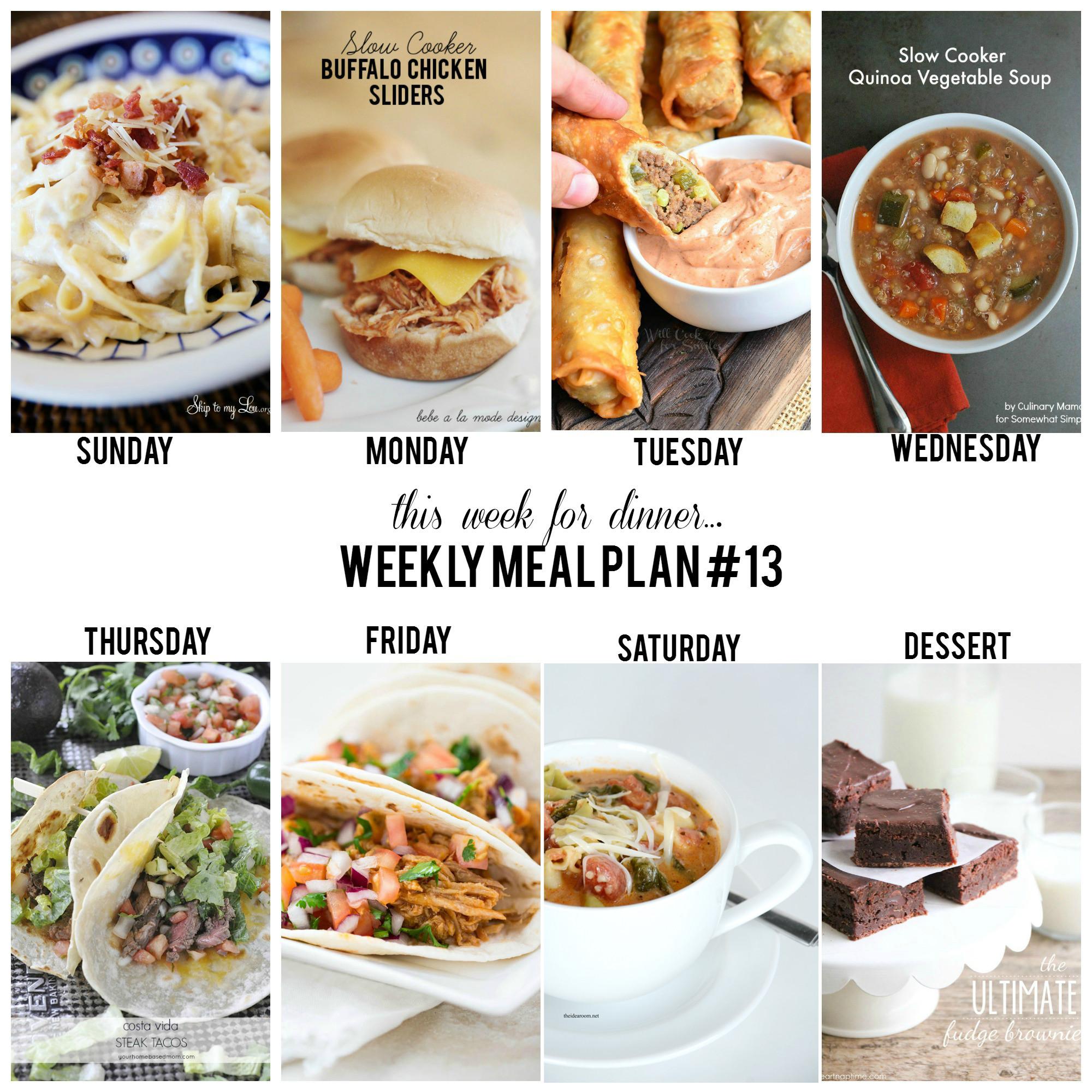Dinner This Week  Weekly Meal Plan – Week 13 The 36th AVENUE