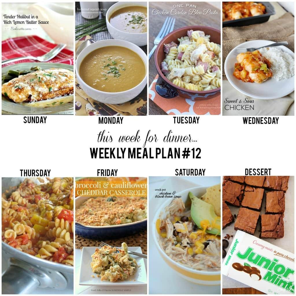 Dinner This Week  Weekly Menu Plan 12 I Heart Nap Time