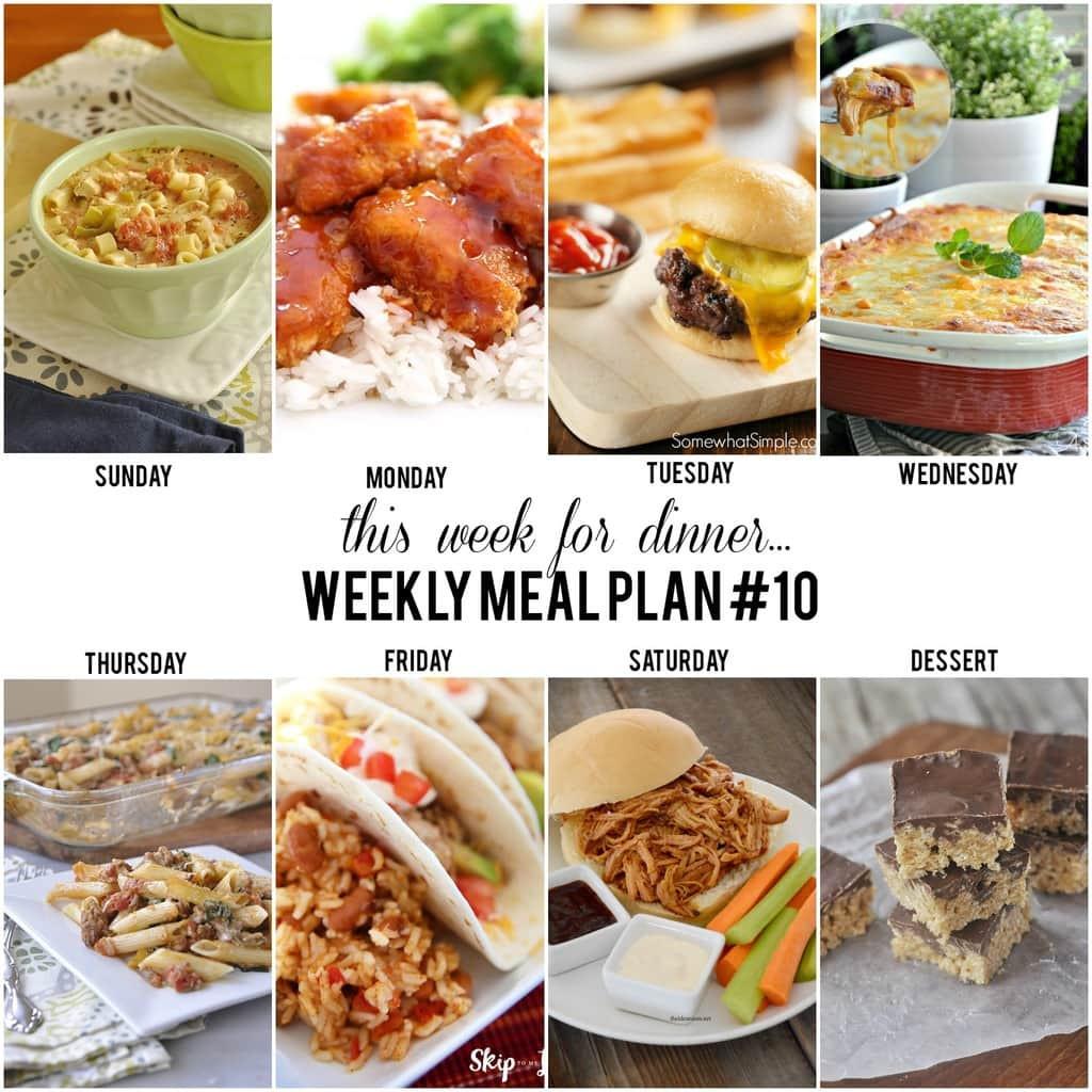 Dinner This Week  This Week for DinnerWeekly Meal Plan 10 Your Homebased Mom