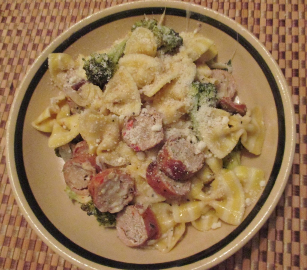 Dinner Vs Supper  Dinner vs Supper and Fancy Farfalle with Sausage and