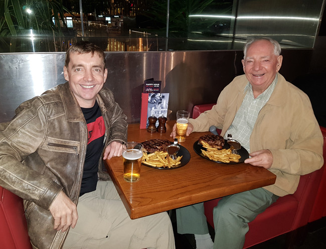 Dinner With Dad  dinner with dad TWICE SHOT Daryl Elliott Green