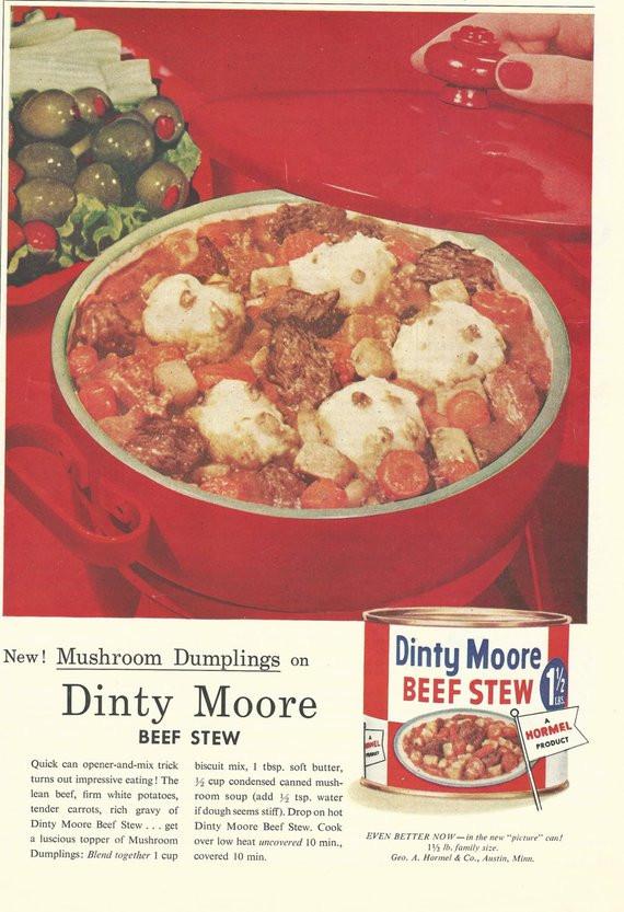 Dinty Moore Beef Stew Recipe  Dinty Moore Beef Stew Original 1957 Vintage by VintageAdarama