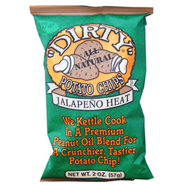 Dirty Potato Chips  Dirty Jalapeno Heat Potato Chips 2 oz Bags Pack of 25