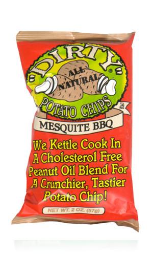 "Dirty Potato Chips  2oz Mesquite BBQ ""Dirty"" Potato Chips Alcor Supply"