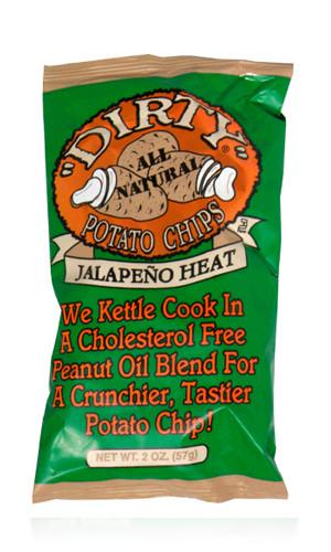 "Dirty Potato Chips  2oz Jalapeño Heat ""Dirty"" Potato Chips Alcor Supply"