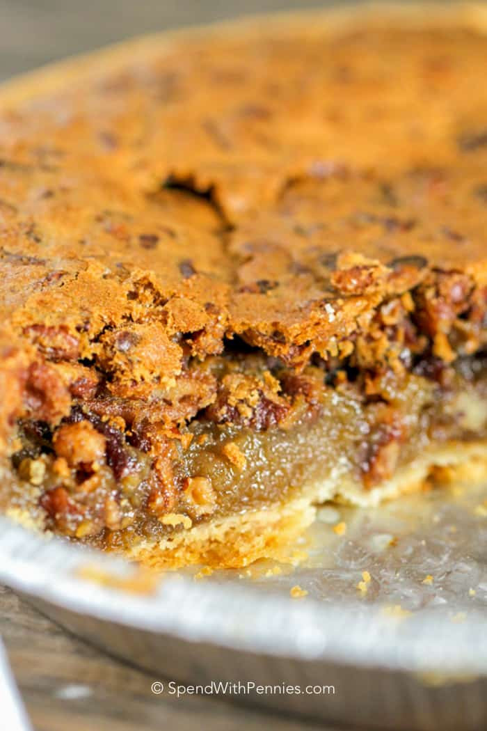 Does Pecan Pie Need To Be Refrigerated  Easy Pecan Pie Recipe No Corn Syrup Spend with Pennies