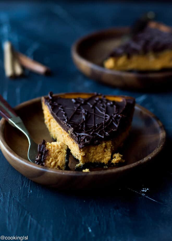 Does Pumpkin Pie Have To Be Refrigerated  Dark Chocolate Pumpkin Pie With Chocolate Crust Recipe