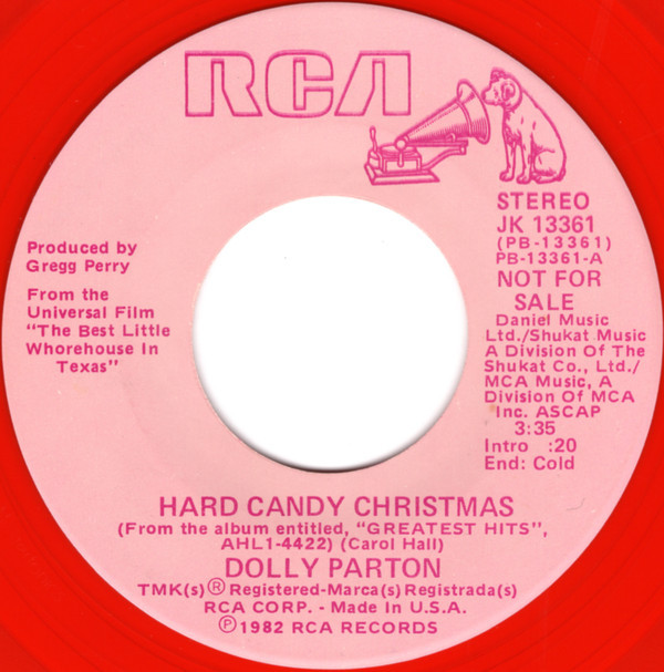 Dolly Parton Hard Candy Christmas  Dolly Parton Hard Candy Christmas Vinyl US 1982