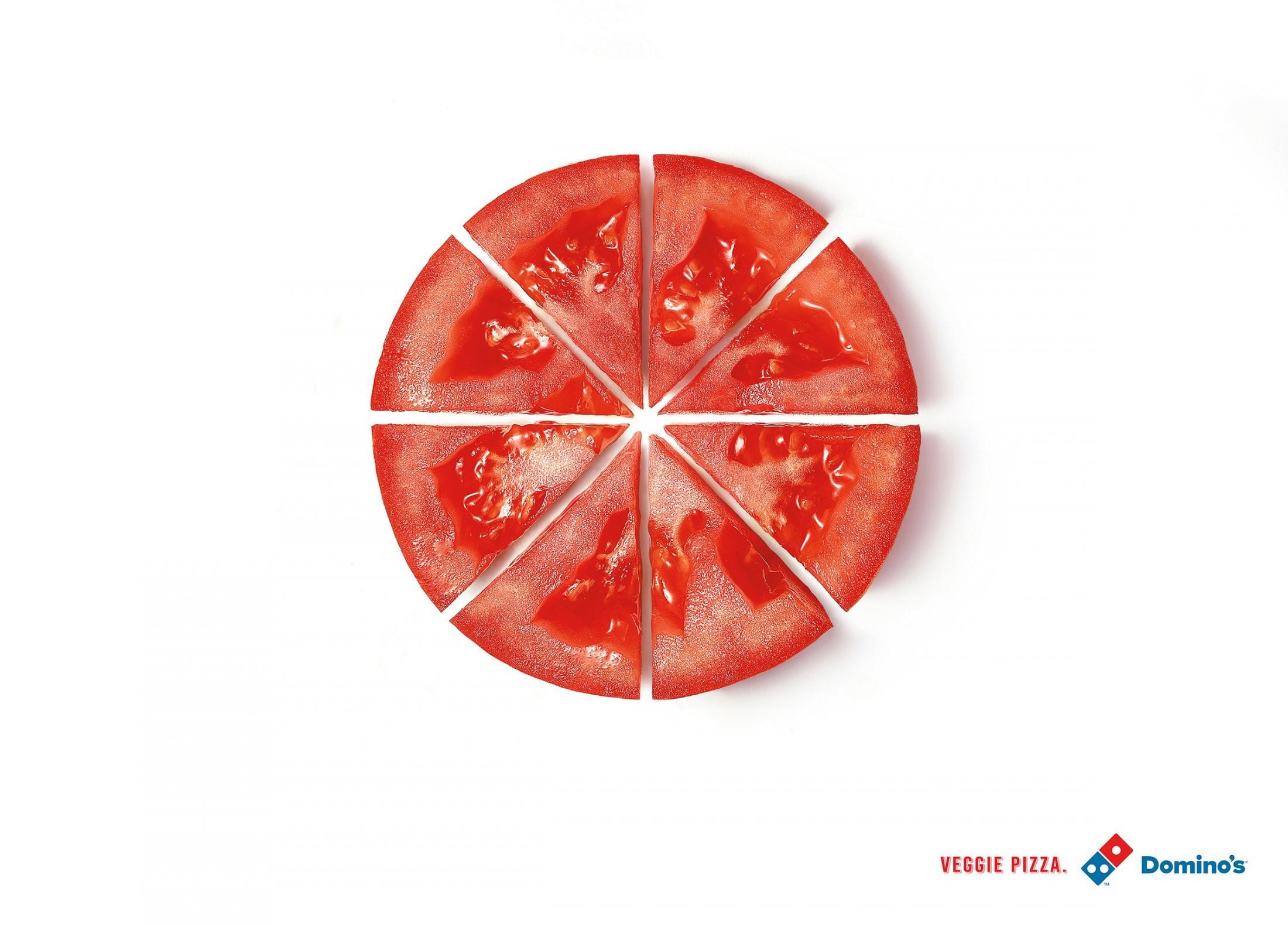 Domino'S Veggie Pizza  Domino s Pizza Print Advert By Artplan Tomato