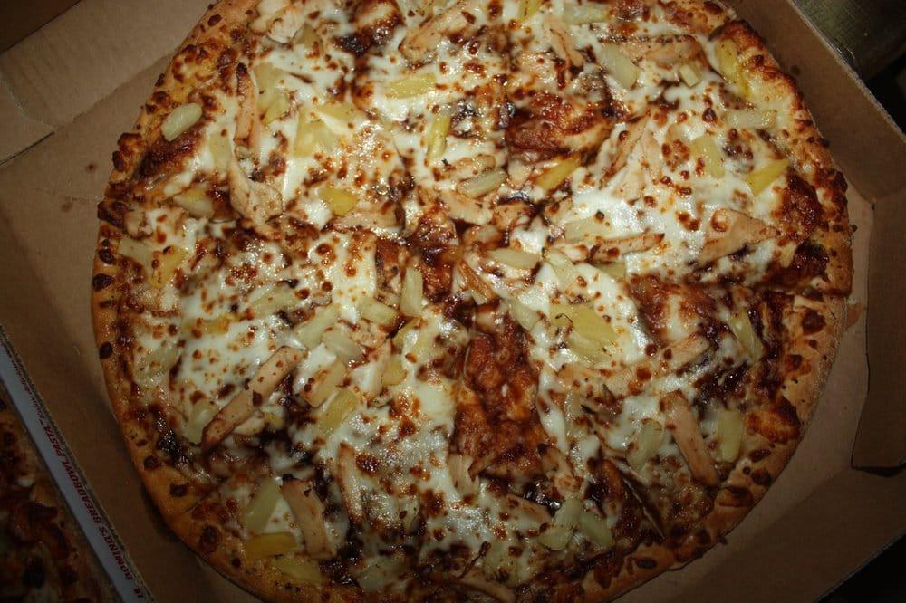 Dominos Bbq Chicken Pizza  premium chicken and pineapple w bbq sauce Yelp