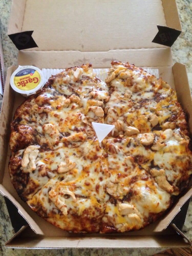 """Dominos Bbq Chicken Pizza  Medium 12"""" Handmade Pan Memphis BBQ Chicken Pizza w"""