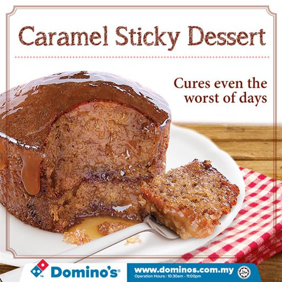 Dominos Dessert Coupons  Domino s Pizza Caramel Sticky Dessert Promotion Food