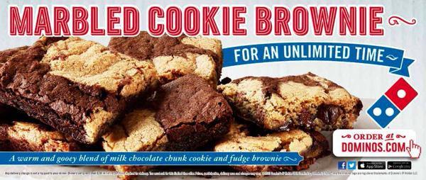 Dominos Dessert Coupons  cookie brownies dominos