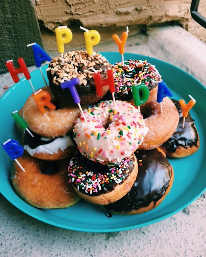Donut Birthday Cake  Donut Birthday Cake