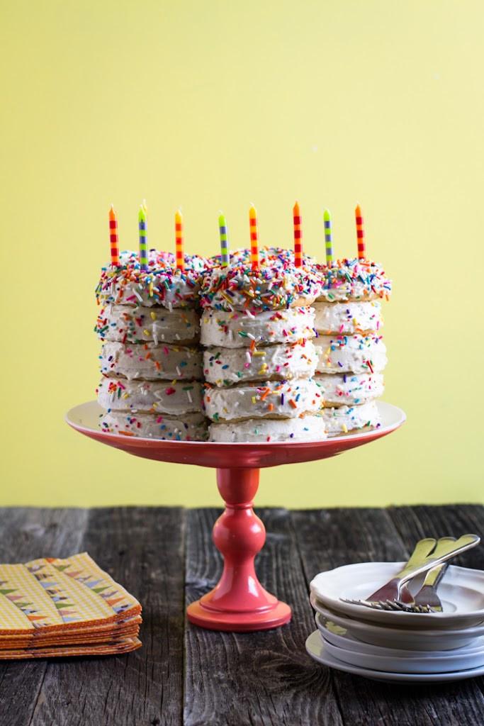 Donut Birthday Cake  Birthday Cake Planning
